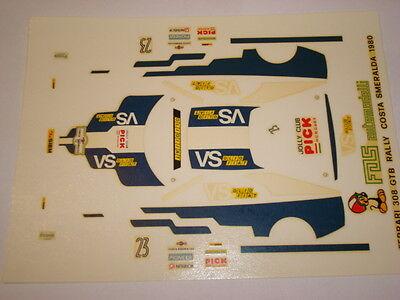 FERRARI 308 GTB RALLY MONTE CARLO 1982 PIONEER 1//43 DECALS