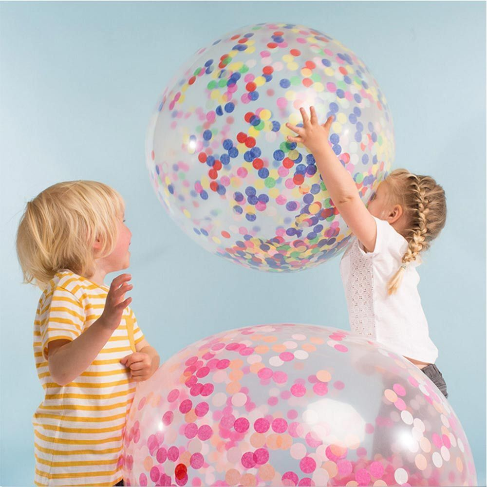 10  & 18  Transparent Latex Balloons Wedding Birthday Confetti Decoration confet