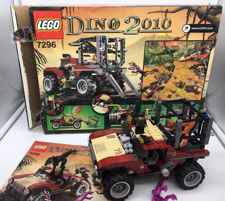 Lego Dino 2010 7296 4WD Dino Trapper With 2 2 2 Mutant Dino Lizards retirot 22e9cf