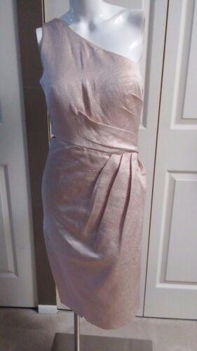 Monique Lhuillier Modele Cocktail One Shoulder Dress Size 6 Ebay