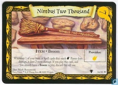 HARRY POTTER TCG QUIDDITCH CUP NIMBUS TWO THOUSAND 16//80 RARE ENGLISH MINT