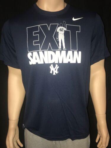 """Nike Mariano Rivera  New York Yankee/'s /""""Exit Sandman/"""" Retirement T-Shirt Tee"""