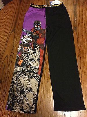 MARVEL GUARDIANS OF THE GALAXY GROOT LOUNGE PANTS KIDS S (7/8) NWT