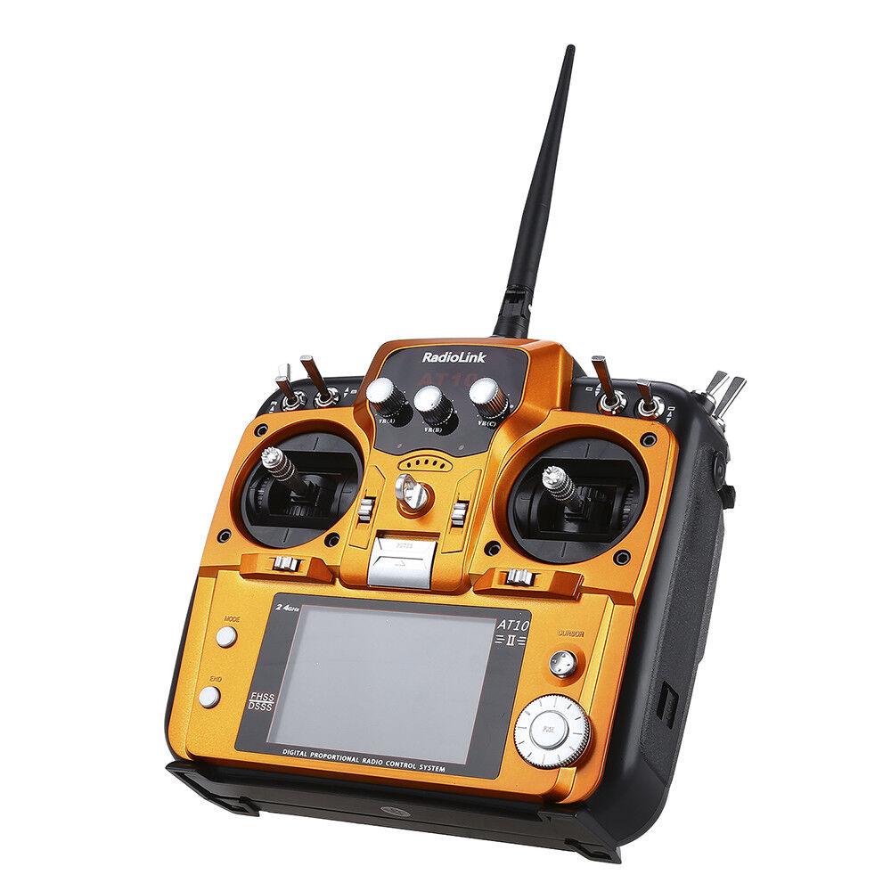 RadioLink AT10 II  2.4Ghz 12CH RC Transmitter Remote Control w  R12DS Receiver  risparmia fino al 70%