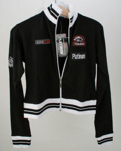 Platinum figurschmeichelnde stretch Jacke weiss und schwarz Gr L