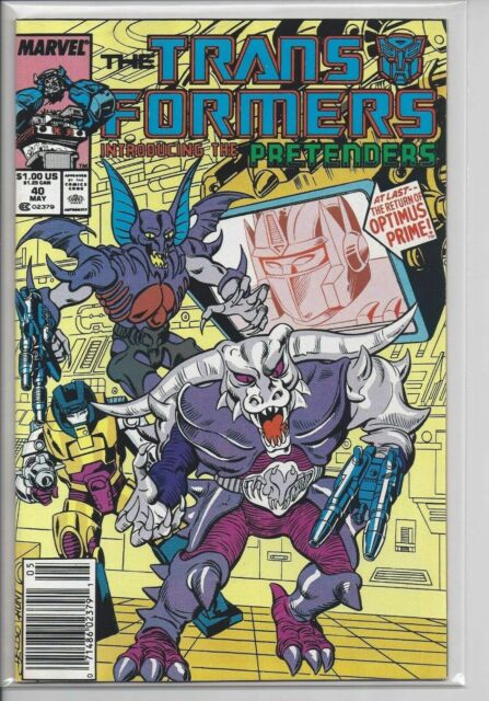 Transformers, The #40 Marvel Comics Newsstand May 1988 (VF-)
