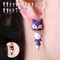1pair New Fashion Animal Cute Fox Ear Stud Earrings For Women Jewelry Gifts Cool