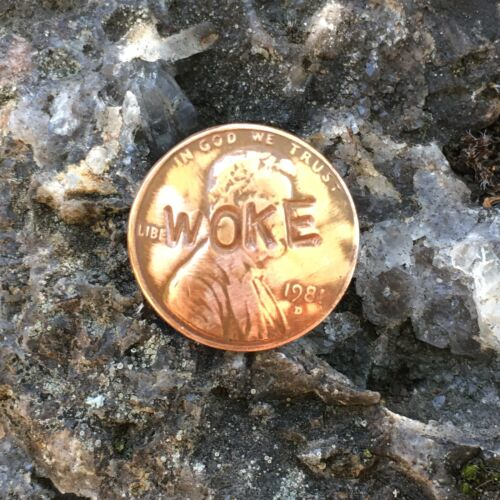 Penny Resistance WOKE lapel pin Fighting racism one penny at a time.