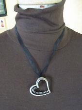 BIJOU N39 Collier pendentif coeur  NECKLACE  Pendant heart JEWEL