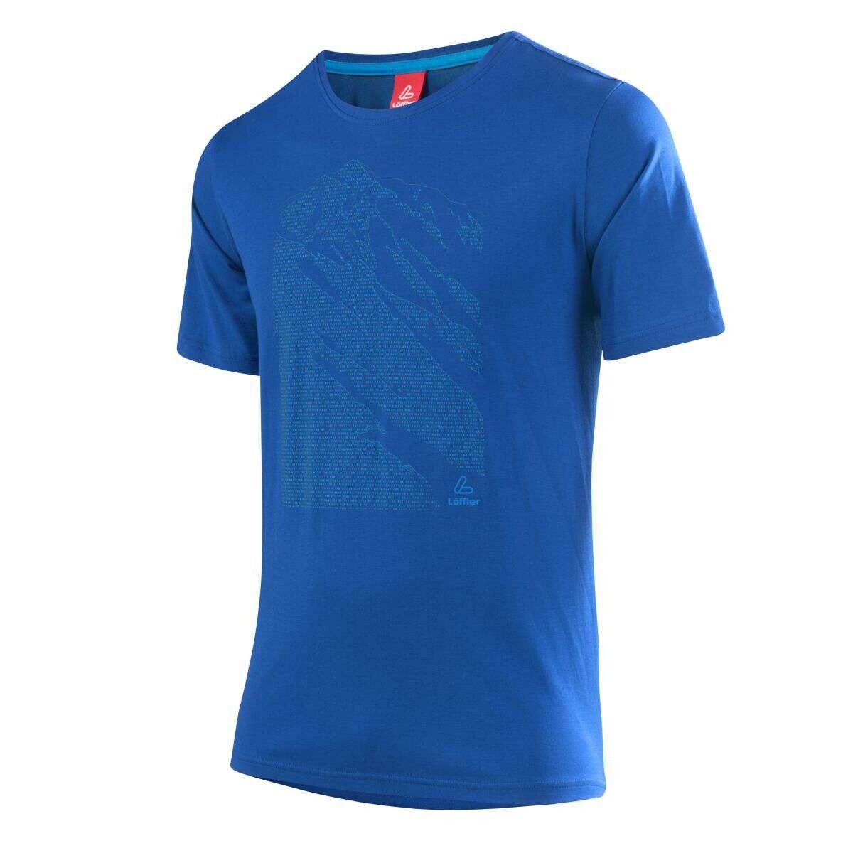 Löffler Printshirt Transtex Single Funktionsshirt blue