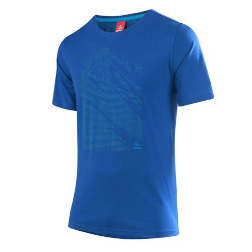 Löffler Printshirt Transtex Single Funktionsshirt blau