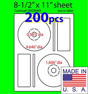 200-Memorex-Compatible-CD-DVD-Labels-Matte-White-Laser-InkJet