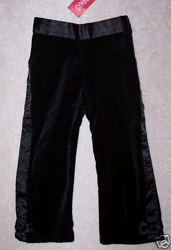 NWT 18-24 Months Gymboree GLAMOUR KITTY Black Velveteen Dress Pants