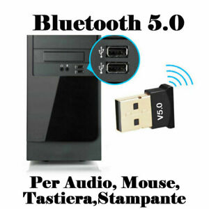 ADATTATORE-BLUETOOTH-5-0-USB-RICEVITORE-Trasmettitore-Wireless-Audio-chiavetta