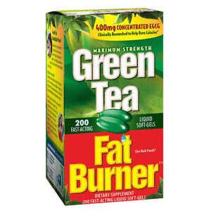 Green Tea Fat Burner 200 soft-gels 400mg concentrated EGCG Fast-Acting Softgel