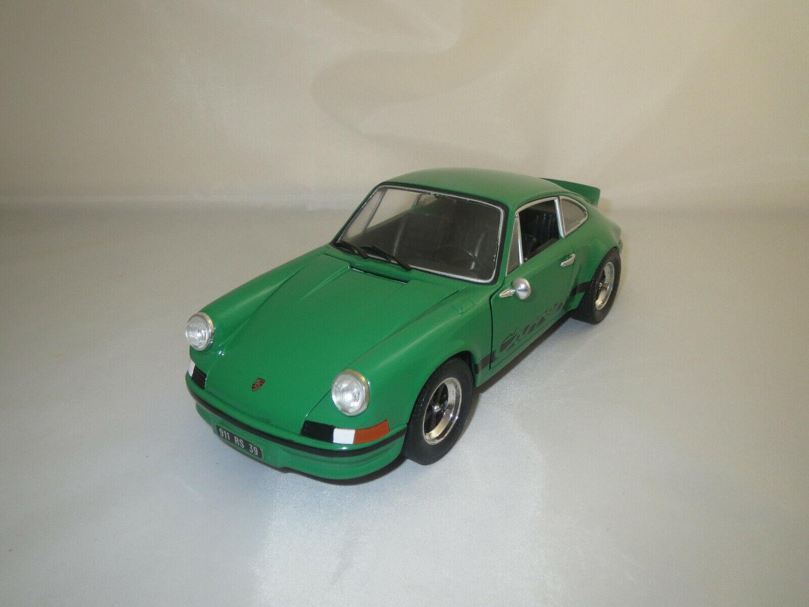 Universal hobbies Porsche 911 RS (verde nero) 1 18 sin embalaje