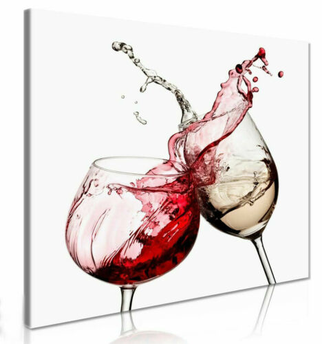 Wine Glasses Kitchen Wall Canvas Wall Art Picture Print