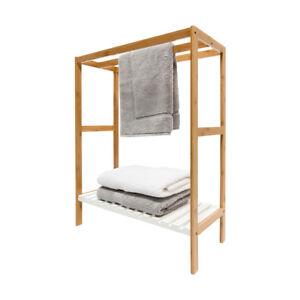 image is loading 3xrailwhitebamboowoodtowelrack wood towel stand91 wood