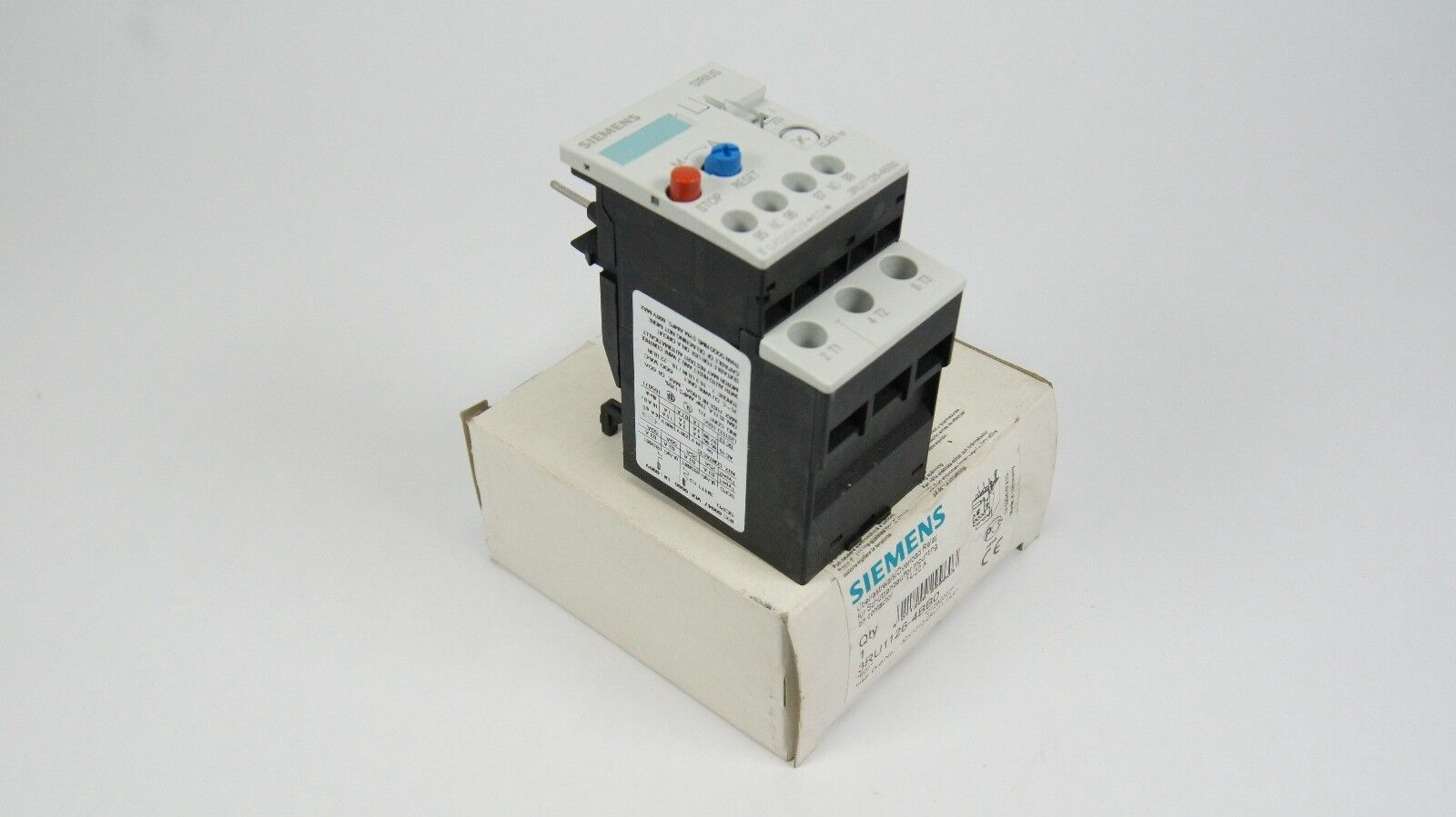 Siemens Overload (NUOVO) Relay 3RU1126 - 4BBO (14-20A) NEW (NUOVO) Overload 647605