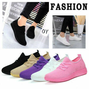Women-Fashion-Air-Cushion-Sneakers-Breathable-Mesh-Walking-Slip-On-Running-Shoes