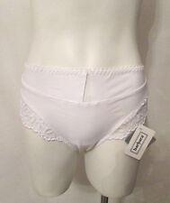 BARBARA 12621 France Full Cut Hi Waist High Leg Lace Mesh Trim Panties Panty M