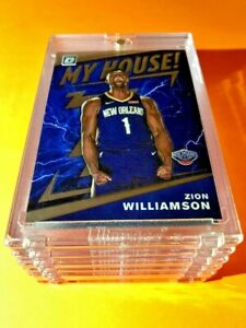 Zion-Williamson-PANINI-DONRUSS-OPTIC-HOT-ROOKIE-2019-20-MY-HOUSE-RC-15-Mint