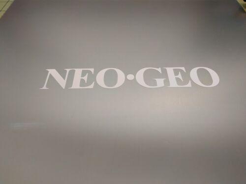 """NEOGEO Neo GEO NEO.GEO Gloss White Vinyl Decal Sticker 3/"""" wide x 1//2/"""" 4 pack"""