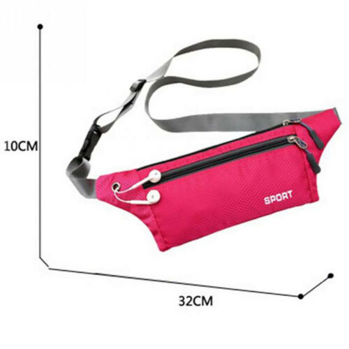 Sport Runner Zipper Belly Waist Bag Cycling Fanny Pack Fitness Bum Belt Pouch SH