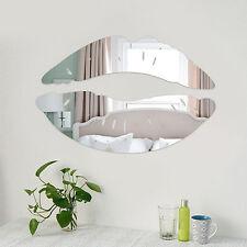 Creative 3D Lip Shape Mirror Wall Stiker Home Living Room Art DIY Decor Hot