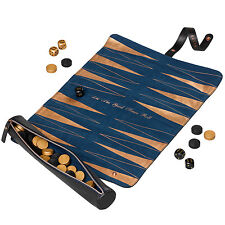 Ted Baker - Black Brogue Backgammon Travel Roll Game
