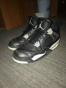 separation shoes d2bd8 c5fc2 Details about Nike Air Jordan Retro 4 Oreo Men's Basketball Shoes Size 10