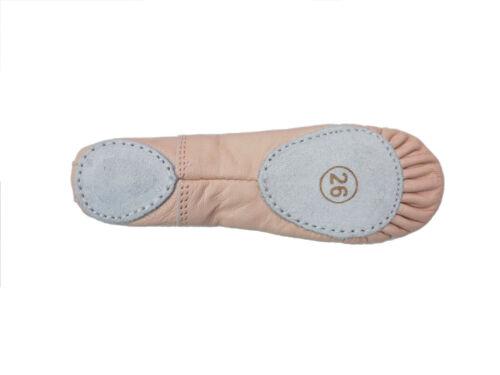 Ballet Dance Leather Shoes Split Sole Children/'s /& Adult/'s Sizes