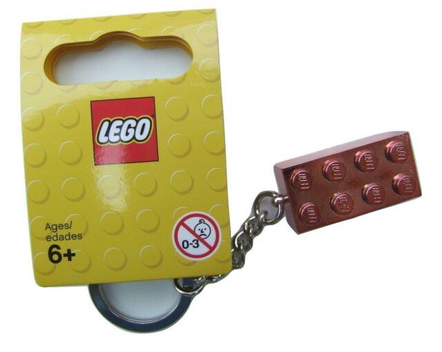 LEGO Chrome Silver 2x4 Brick Key Chain Keyring Limited Edition Block Metallic