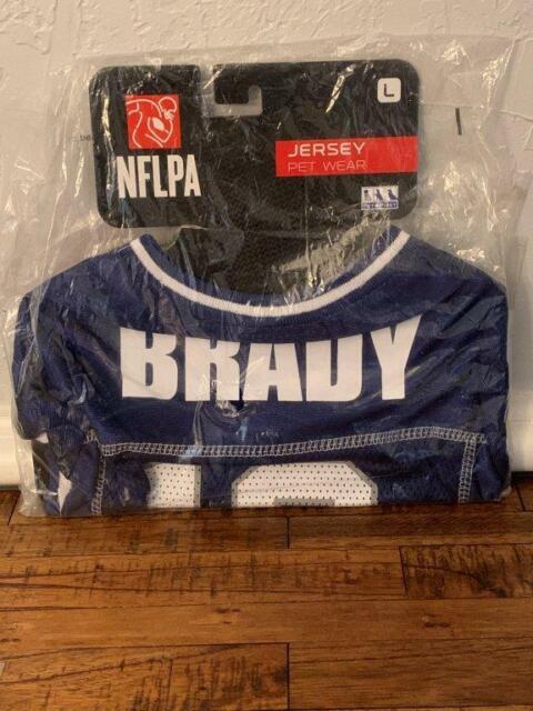 Tom Brady #12 NFL Pet Dog Jersey Size Large Fits up to 40 Pounds