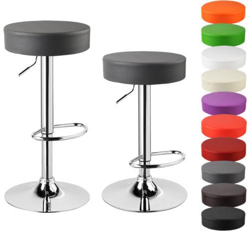 2 x Barhocker Barstuhl Tresen Hocker Kunstleder gepolstert Stühle Grau BH20gr-2