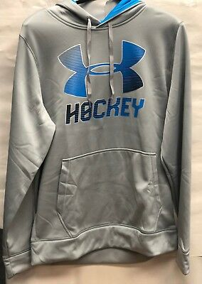 1299633 BLACK /& GRAY Under Armour UA Storm Hockey Logo Men's Hockey Hoodie