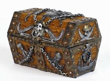 Pirate Chest Skull Jewelry Box Octupus Statue Trinket Treasure Chest Pirata