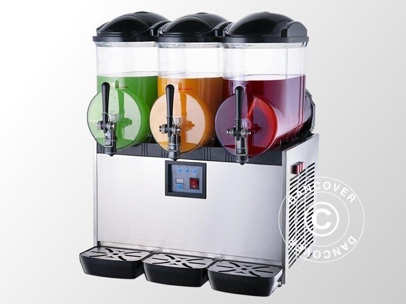 Slush ice maskine, 3 kamre, 3x12 L