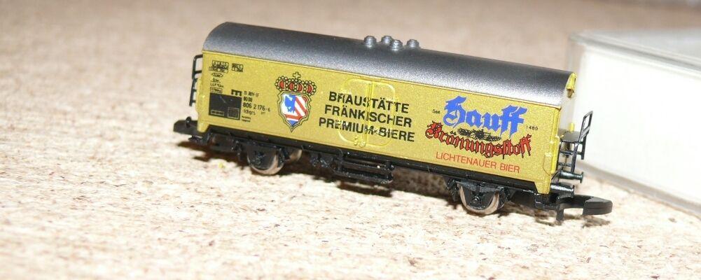 R24 R24 R24 Märklin 8600.1988.38 Hauff Krönungsstoff Bierwagen Auflage 100 Spur Z  | Die Farbe ist sehr auffällig  41dbc9