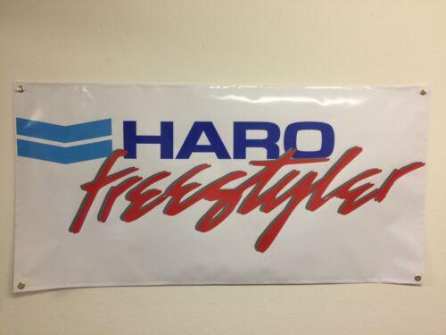 old school bmx haro freestyler red BANNER 2ft X 2ft vdc hutch gt se racing