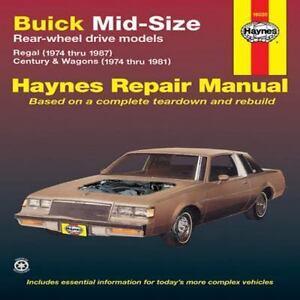 haynes manuals buick mid size rear wheel driven models regal rh ebay com 1993 Buick LeSabre Repair Manual 1993 Buick LeSabre Repair Manual