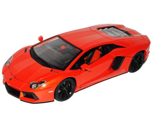 Lamborghini Aventador 2011 Lp700-4 Lp 700 Orange Coupe 1//18 Bburago Modell Auto