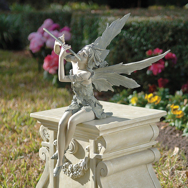 Sitting Fairy Garden Statue Outdoor Ornament Patio Sculpture Decor Resin  Stone