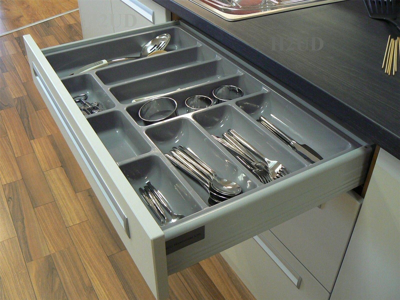 Kitchen drawer accessories uk - Quality Plastic Cutlery Trays Kitchen Drawers Blum Tandembox Inserts