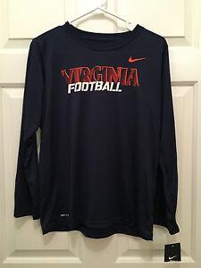 NWT Virginia UVA Cavaliers Nike Dri-Fit Football Long Sleeve T-Shirt Youth Large