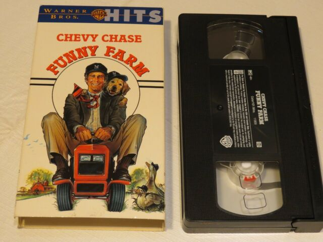 Chevy Chase Funny Farm Warner Bros. HITS VHS tape movie comedy RARE PG