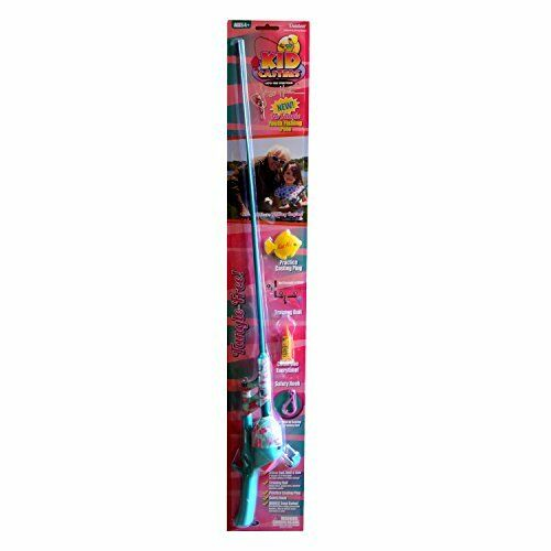 NEW Kid Casters Jimmy Houston Girls No Tangle Fishing Rod FREE SHIPPING