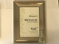 Wedding Dress TG144 Fine English Pewter On A PHOTO FRAME SILVER 6X4 Hang/Stand