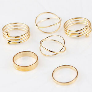 Gold-Party-Gift-Knuckle-Rings-Punk-Jewelry-Midi-Finger-Ring-Set-For-Women-Girl