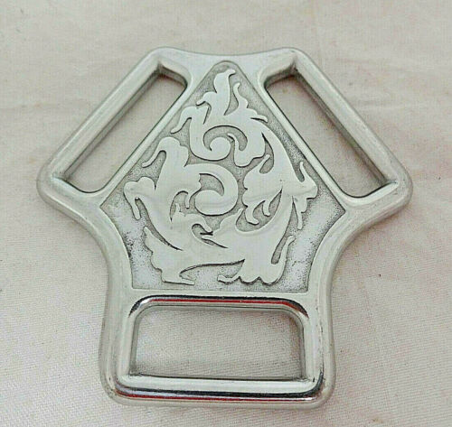 Jeremiah Watt Martingale Breast Collar Center Floral Stainless Steel Horse Tack